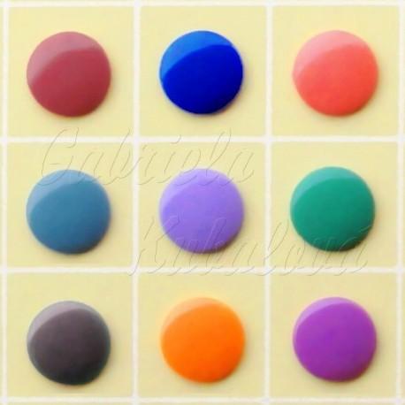 Plastový patent, 12 mm, výběr barev