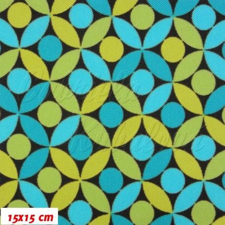 Šusťál, Lístečky modré a zelené, 15x15cm