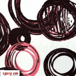 Kočárkovina MAT, Malovaná kola růžovofialová, šíře 160 cm, 10 cm, Atest 1