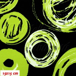 Kočárkovina MAT, Malovaná kola jasně zelenobílá, šíře 160 cm, 10 cm, Atest 1
