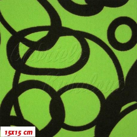 HF Šusťák, Různé kroužky na zelené, 15x15cm