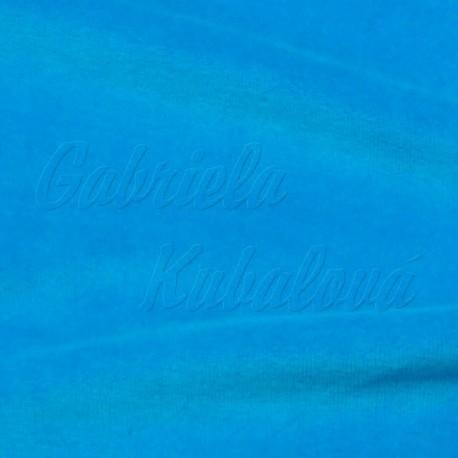 Kojenecký plyš - tmavě tyrkysová