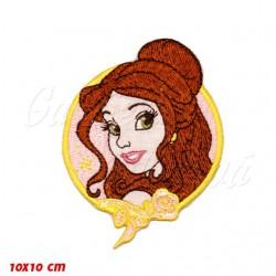 Nažehlovačka Disney - Princezna Belle, (Kráska a zvíře) kulatá