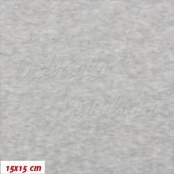 Kojenecký plyš TOP Q - Šedý melír, šíře 180 cm, 10 cm, ATEST 1