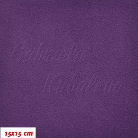 Látka micro fleece antipilling - FLEECE402, tm. fialová, šíře 140-155cm, 10cm