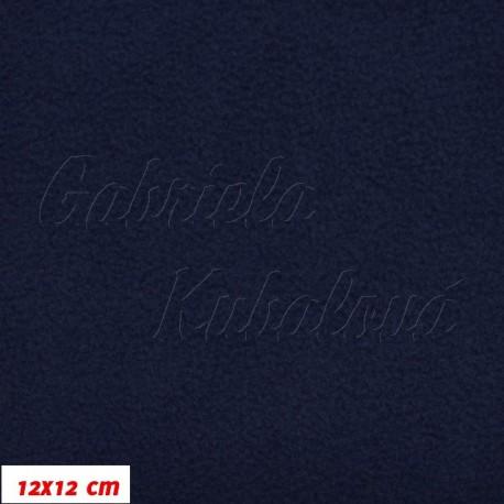 Látka micro fleece antipilling - FLEECE126, tm. modrá, šíře 140-155cm, 10cm