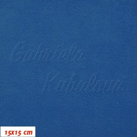 Látka micro fleece antipilling - FLEECE570, tm. modrý tyrkys, šíře 140-155cm, 10cm