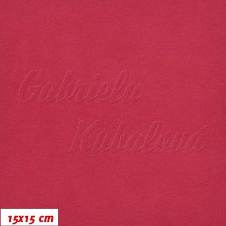 Látka micro fleece antipilling - FLEECE476, tm. růžová, šíře 140-155cm, 10cm