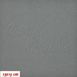 Látka micro fleece antipilling - FLEECE051, Sv. šedý, šíře 140-155 cm, 10 cm
