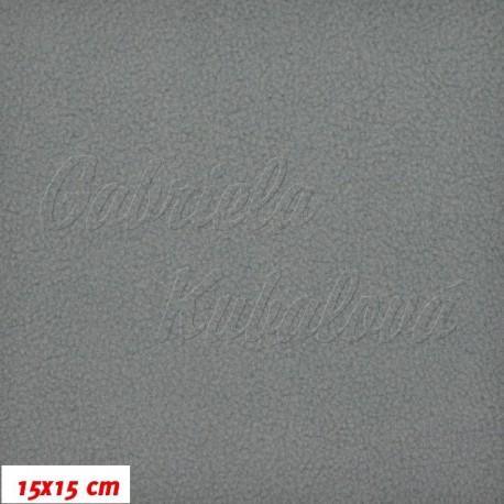 Látka micro fleece antipilling - FLEECE051, sv. šedá, šíře 140-155cm, 10cm