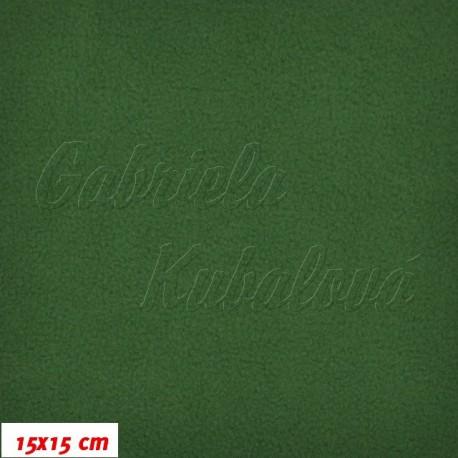 Látka micro fleece antipilling - FLEECE578, tm. zelená, šíře 140-155cm, 10cm