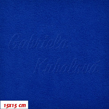 Látka micro fleece antipilling - FLEECE594, Královsky modrá, šíře 140-155cm, 10cm