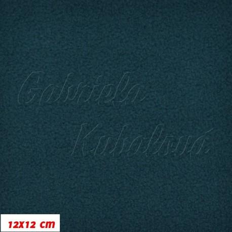 Látka micro fleece antipilling - FLEECE613, temně zelená, šíře 140-155cm, 10cm