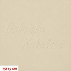Microfleece antipilling - FLEECE 141, Bílá káva, šíře 140-155 cm, 10 cm
