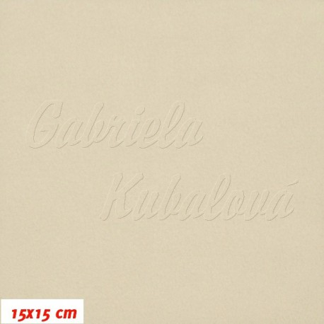 Látka micro fleece antipilling - FLEECE157, bílá káva, šíře 140-155cm, 10cm