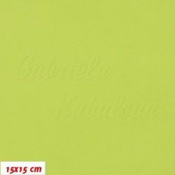 Látka micro fleece antipilling - FLEECE586, Jablíčkově zelená, šíře 140-155 cm, 10 cm