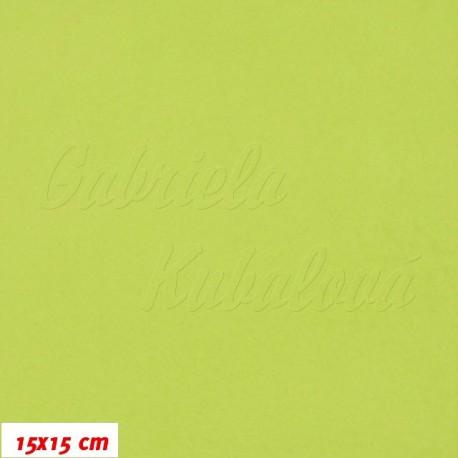 Látka micro fleece antipilling - FLEECE586, jablíčkově zelená, šíře 140-155cm, 10cm