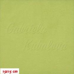 Microfleece antipilling - FLEECE370, Bledě zelený, šíře 140-155 cm, 10 cm