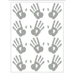 Reflexní nažehlovací potisk - Ruce (12 ks)