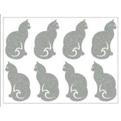 Reflexní nažehlovací potisk - Kočky (8 ks)