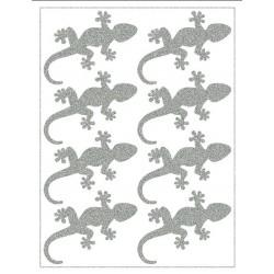 Reflexní nažehlovací potisk - Ještěrky (8 ks)