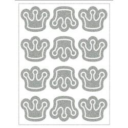 Reflexní nažehlovací potisk - Korunky (12 ks)