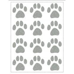Reflexní nažehlovací potisk - Psí stopy větší (12 ks)