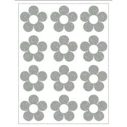 Reflexní nažehlovací potisk - Kytičky (12 ks)