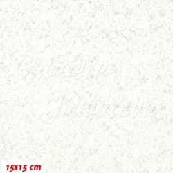 Vánoční látka - Stříbrná kolekce - Mihotání, 15x15cm
