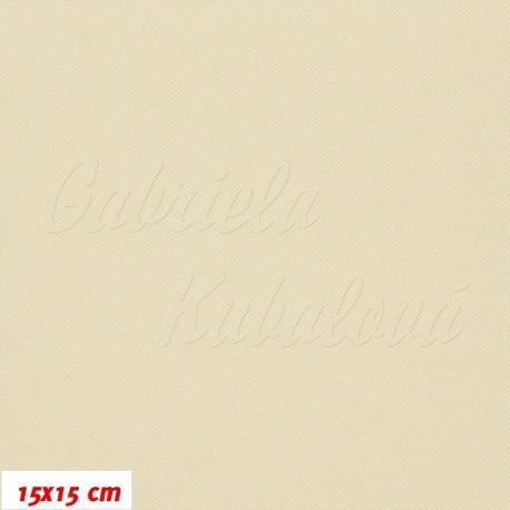 Kočárkovina MAT 163, smetanová, 15x15cm