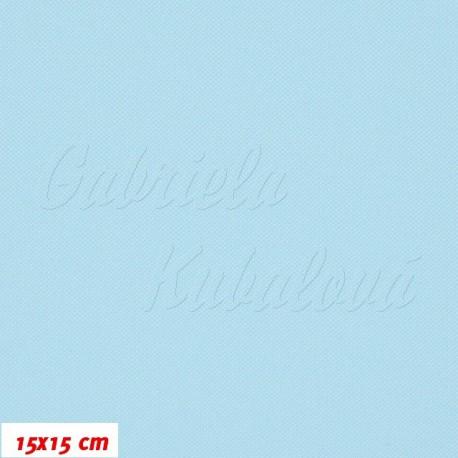 Kočárkovina MAT 432, bledě modrá, 15x15cm