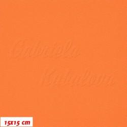 Kočárkovina MAT 741, oranžová, 15x15cm