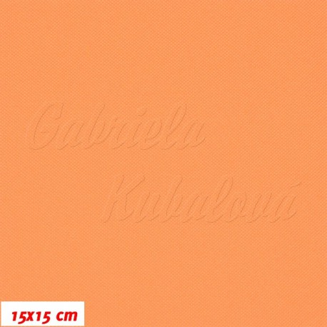 Kočárkovina MAT 965, pastelově oranžová, 15x15cm