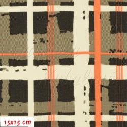 Kočárkovina, Mřížka smetanověhnědá, 15x15cm