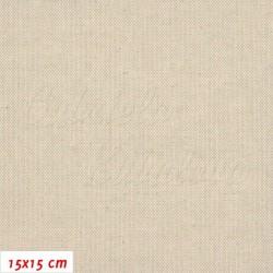 Režné plátno - Přírodní barva bez potisku, šíře 140 cm, 10 cm