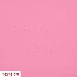 Plátno, Růžová 120 g/m2, 15x15cm