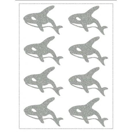 Reflexní nažehlovací potisk - Kosatky