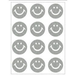 Reflexní nažehlovací potisk - Smajlíci (12 ks)