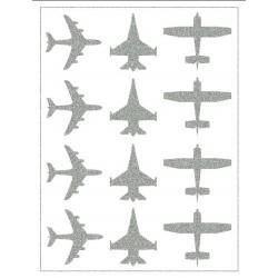 Reflexní nažehlovací potisk - Letadla (12 ks)