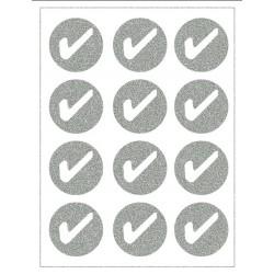 Reflexní nažehlovací potisk - Fajfky v kolečku (12 ks)