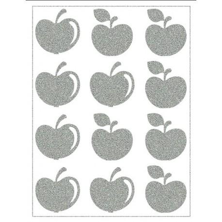 Reflexní nažehlovací potisk - Jablíčka
