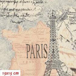 Plátno - Vzpomínky na Paříž, šíře 140 cm, 10 cm