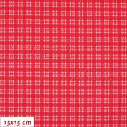 Plátno, Kostičky 5mm červené, 15x15cm