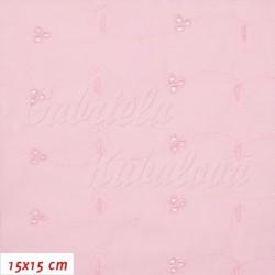 Madeira, Kytičky a vlnky na růžové, 15x15cm