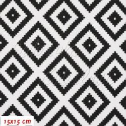 Kočárkovina MAT, Pepito černobílé, šíře 160 cm, 10 cm, Atest 1