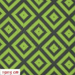 Kočárkovina MAT, Pepito zelenošedé, šíře 160 cm, 10 cm, Atest 1