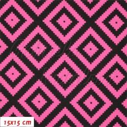 Kočárkovina MAT, Pepito tm. růžovočerné, šíře 160 cm, 10 cm, Atest 1