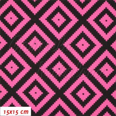 Kočárkovina, Pepito tm. růžovočerné, 15x15cm