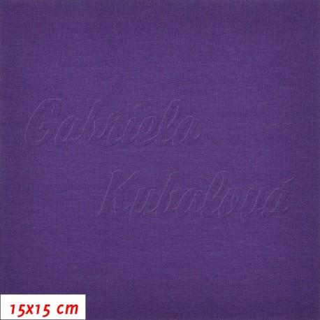 Úplet s EL, jednolíc tm. fialový, 15x15cm