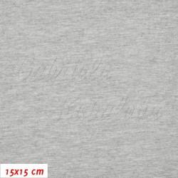 Úplet s EL, B - Světle šedý melír 2192, 260 g, šíře 180 cm, 10 cm, ATEST 1